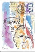 Carte Maximum Fdc, France, 100 Ans De Charles De Gaulle, Arc De Triomphe, 24/2/90 Lille,n°2634 - 1990-99