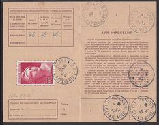 P.T.T - 1946 - Carte D'Abonnement Aux Emissions De Timbres-Poste Spéciaux Français - Timbre Marianne De Gandon N° 733 - - Cartes