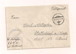 Feldpostbrief Ohne Inhalt 18.9.1941 Von L.D.K 64 Nach Stetteldorf A/ Wagram ND Ostmark - Covers & Documents