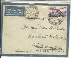 Lettre , Eritrea , Colonie Italienne  1938 (8) - Eritrea