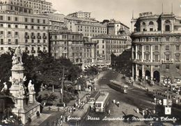 Genova - Piazza Acquaverde E Monumento A Colombo - Genova