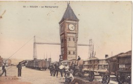 76 ROUEN LE MAREGRAPHE AVEC DES TRAIN  CPA BON ÉTAT - Rouen