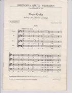 PARTITION  MESSE G-DUR  FRANZ  SCHUBERT D 167 POUR SOPRANO,ALTO,TENOR ET BASSE - Chant Chorale