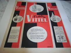ANCIENNE PUBLICITE FIDELE A VITTEL 1955 - Posters