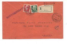 1748) 1939 Annullo Taranto Telegrafo Arsenale Cover Storia Postale - 1900-44 Vittorio Emanuele III