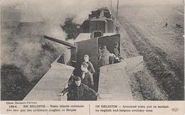 CPA AK Armée Train 1914 Artillerie Anglais Belge Canon Guerre WW1 1 Weltkrieg War Militaria Militaire Belgique Belgium - Ausrüstung