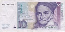 BILLETE DE ALEMANIA DE 10 MARCK DEL AÑO 1991   (BANKNOTE) - [ 7] 1949-… : FRG - Fed. Rep. Of Germany
