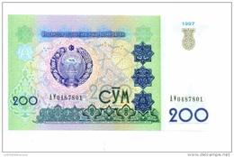 Ouzbekistan 200 Som 1997 NEUF - Uzbekistan