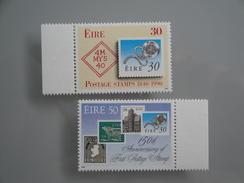 1990  Irlande Yvert 719/20 **  Timbre Sur Timbre  Scott 803/4 Michel 718/9  SG 774/5 - Neufs