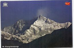 Le Kangchenjunga, 8586 M,INDE, Le Troisième Plus Haut Sommet Sur Terre,carte Postale Adressée ANDORRA - Mountaineering, Alpinism