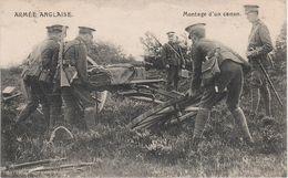 CPA - AK Armée Anglaise Montage Canon English Army Guerre WW1 Weltkrieg War Militaria Militaire Militär Belgique Belgium - Equipment