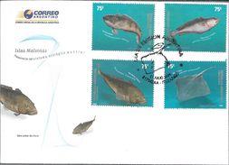 NOTOTENIA BACALAO CRIOLLO MERLUZA NEGRA RAYA LISA ARGENTINA ARGENTINE AÑO 2004 SOMPLETE SET FAUNA MARINA DE LAS ISLAS MA - Fishes