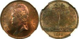 1868-E Liberia Pattern Cent - NGC PF-65 RB - Liberia