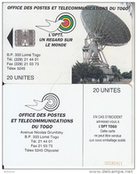 TOGO - Earth Station, First Chip Issue 20 Units(reverse B-CN At Bottom), Used - Togo