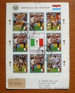 Cover - Letter - Sobre Paraguay Enviado Certificado Con Estampillas De Italia 90 - Coppa Del Mondo