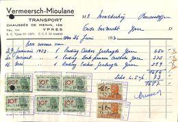 Transport Vermeersch-Mioulane, Yper, 1953 - Belgique
