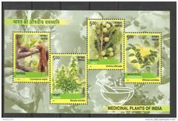 INDIA, 2003, Medicinal Plants Of India, Set 4 V, Miniature Sheet, MNH, (**) - India
