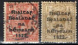 """IRLANDA - 1922 - EFFIGIE DI GIORGIO V CON SOVRASTAMPA - """"GOVERNO PROVVISORIO D'IRLANDA"""" - USATI - 1922 Governo Provvisorio"""