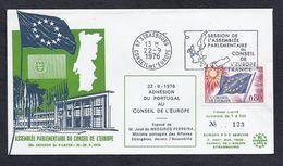 22.9.1976 ADHESION PORTUGAL MEDEIROS FERREIRA MINISTRE CONSEIL EUROPE STRASBOURG TIRAGE LIMITE 700 Ex. - 1910-... République