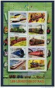 """Bloc """"Collection Jeunesse - Les Legendes Du Rail"""" 2001 YT 38 Neuf - Sheetlets"""