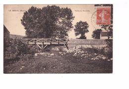 51 Le Breuil Vallée Du Surmelin Cpa Cachet Le Breuil 1922 Carte Rare - Andere Gemeenten