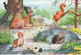 Bloc Timbres Neufs Animaux Des Bois 2001 Neuf N°36 - Mint/Hinged