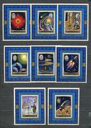 AJMAN 1971 Mi # 991 B - 998 B SPACE 8 EINZELBLOCKS CTO - Ajman