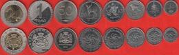 Georgia Set Of 8 Coins: 1 Tetri - 2 Lari 1993-2006 UNC - Georgia