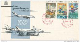 DC-169 INDONESIA - FDC 1967 - AIRPLANES - Aerei