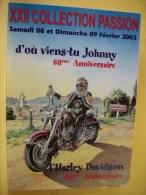B9 2601 - CPM - D'OU VIENS TU JOHNNY & L'HARLEY DAVISON 100eme ANNIVERSAIRE - JOHNNY HALLIDAY PAR MICHAÏEL CROISA DR - Chanteurs & Musiciens
