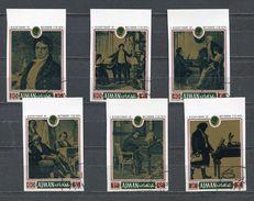 AJMAN 1971 Mi # 794 B - 799 B BEETHOVEN Set Of 6 Stamps CTO - Ajman