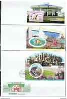NORTH KOREA 2017 CENTRAL ZOO OF PYONGYANG FDC X 7 - Postzegels