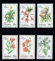 1989  Fleurs Sauvages  Série Complète ** -  Wildflowers  MNH - Zimbabwe (1980-...)