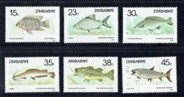 1989   Poissons  Série Complète ** -  Fish  MNH - Zimbabwe (1980-...)
