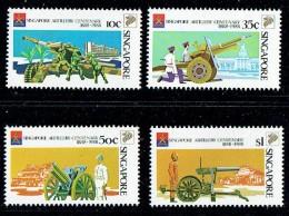 1988  Singapore Artillery Centenary  Complete Set UM ** - Singapore (1959-...)