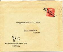 Sweden Ship Cover (fra Sverige) Sent To Denmark (IRIS) - Suède