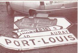 Morbihan Bretagne Panneaux Indicateurs Routiers Port-Louis Auray Voiture - Other Municipalities