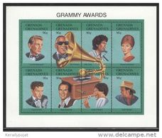 Grenada Grenadines - 1992 Grammy Awards Kleinbogen MNH__(FIL-10122) - Grenada (1974-...)