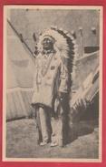 Chef Sioux, Venant De Pine Ridge So. Dakota ( US ) à L'expo De Bruxelles En 1935  ( Voir Verso ) - Indiens De L'Amerique Du Nord