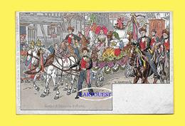 CPA Illustrateur P KAUFFMANN  Carte CHROMO N°14 Série De 24  USAGE ET COSTUMES D´ALSACE Cortège Fiancée Veille MARIAGE - Kauffmann, Paul