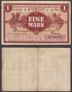 Germany 1 Mark 1916 (VF) Condition Banknote Stendal LAGER POW CAMP - Germany