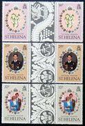 St.HELENA 1981 Royal Wedding COMPLETE SET Gutter Pairs MNH - Isola Di Sant'Elena