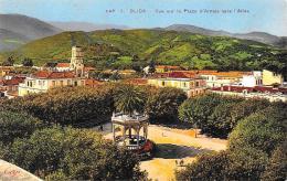 [DC10575] CPA - ALGERIA - BLIDA - VUE SUR LE PLACE D'ARMES VERS L'ATLAS - Non Viaggiata 1939 - Old Postcard - Blida