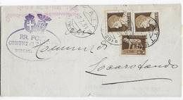 STORIA POSTALE REGNO - ANNULLO FRAZIONARIO - STATTE (TA) 79-29 SU PIEGO PER LOCOROTONDO - RISPEDIZIONE - 1900-44 Victor Emmanuel III