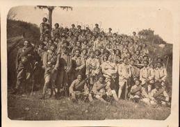 Chasseurs Alpins,  Photo Groupe   (bon Etat)  Dim: 11 X 8. - War, Military