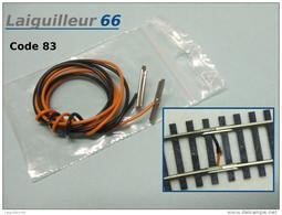 Laiguilleur66 / Roco - ECLISSES D´ALIMENTATION Par CABLE SOUDE Code 83 Neuf HO 1/87 - Rails
