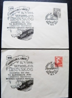 2 Covers From Yugoslavia Croatia 1954 Special Cancel Zagreb Music Vatroslav Lisinski Composer - Covers & Documents