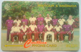 Antigua Phonecard EC$10 1996 Cricket Team 231CATA - Antigua And Barbuda