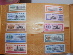 Albums With 10 Chinese Food Coupon Issued By Hebei Province 1980 And Heilongjiang Prov. 1978,China - Monedas & Billetes