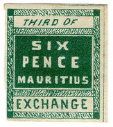 (I.B) Mauritius Revenue : Bill Of Exchange 6d (Third) - Mauricio (...-1967)